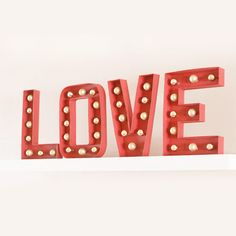 DIY Marquee letters for Christmas AND Valentine's day!