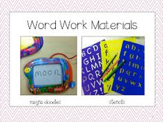 School Is a Happy Place: The Daily Five: Focus on Word Work