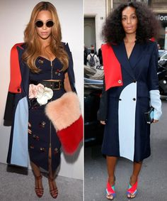Sister Style: Beyoncé and Solange Knowles Sport the Same Coat #InStyle