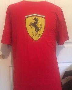 Official Scuderra Ferrari Crackling Effect T Shirt Mens US XXL 2XL Madrid Store #Ferrari #GraphicTee