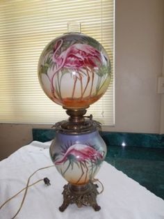 Flamingo GWTW Gone with The Wind Parlor Banquet Oil Lamp | eBay