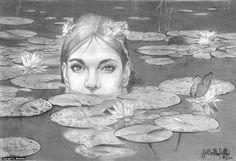 Water Nymph Artwork by Joseph Bellofatto (c)2017