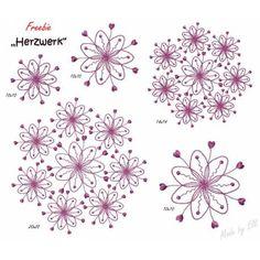 Freebie Herzwerk für Kunden Ich wünsche viel Spaß beim Sticken.  Liebe Grüße Elli