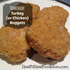 These homemade turkey nuggets are the perfect replacement for bagged frozen nuggets, but don't contain any artificial ingredients!