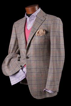 Cesare Attolini Glen Plaid Luxury Shopping In Vail, Colorado Sharp Dressed Man, Well Dressed Men, Only Fashion, Mens Fashion, Fashion Wear, Mens Sport Coat, Sport Coats, Classic Men, Casual Wear