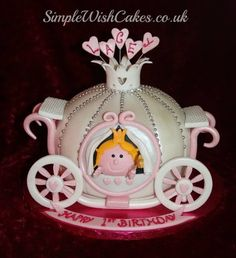 Little Miss Princess Carriage  Cake by Stef and Carla (Simple Wish Cakes)