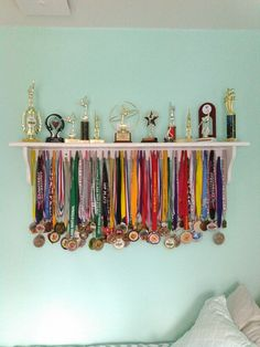Made this for my daughter....Gymnastics Medals/Trophy display