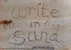 Writing in the sand #beach #sea