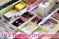 DIY Drawer Dividers (much better way of wrapping the boxes)