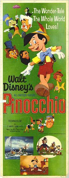 1945 Jiminy Cricket~Wonderful Adventures Pinocchio Disney Movie~RKO Radio AD