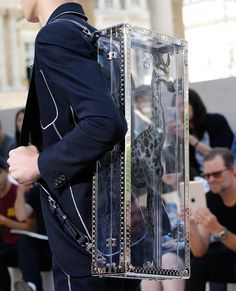 For Spring Louis Vuitton Took Its Men's Bags on a Fantastical Storybook Safari Vuitton Bag, Louis Vuitton Handbags, Fashion Bags, Mens Fashion, Style Fashion, Urban Cowboy, Modern Gentleman, Work Bags, Chains For Men