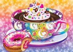 Lisa Frank coffee and donut!