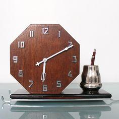 Pfeilkreuz Junghans Mantel Top Condition Clock Art Deco German Antique Chrome | eBay