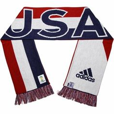 adidas US Soccer 2014 World Cup Country Scarf - Red/White/Navy Blue