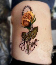 Forever Living Rose Tattoo