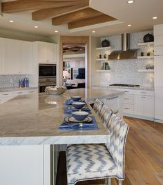 Open Kitchen Island Counter Height Bar Naples Florida Inspired Home Decor