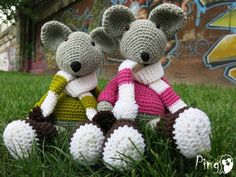 Crochet Mouse Pattern: Max and Mary, Crochet Amigurumi Mouse, Amigurumi Toy, Crochet Animal, Amigurumi Animal, Instant Download (pdf file), by ThePinkPingo on Etsy https://www.etsy.com/listing/232403030/crochet-mouse-pattern-max-and-mary