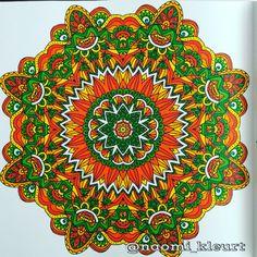 Kleuren voor volwassenen, colouring, coloriage, mandala, mandalart, hetvierdeenigeechtemandalakleurboekvoorvolwassenen, stabilo