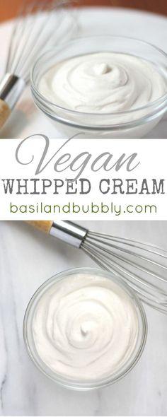 Delicious, creamy, decadent vegan whipped cream recipe