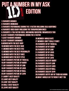 Send me a number! I don't have favorite pictures or gifs-1d: