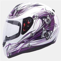 Casco MT Thunder Butterfly Purpura Integral