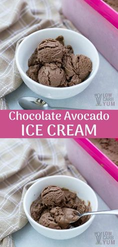 Keto Chocolate Avocado Ice Cream Recipe (Dairy-Free) A dessert that's loaded with fat but is actually good for you? Yes, meet your new favorite go-to treat: dairy free keto chocolate avocado ice cream. Avocado Dessert, Avocado Smoothie, Low Carb Desserts, Low Carb Recipes, Dessert Recipes, Breakfast Recipes, Healthy Recipes, Easy Recipes, Mousse