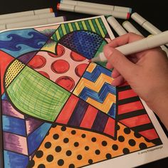 Adult coloring: Pop art adult coloring book with interactive designs that allow you to be the artist!