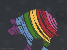 rainbow pig | Rainbow Pig