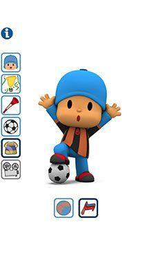 Diviértete con el Juego de Fútbol Talking Pocoyó Apps, Luigi, Ideas Para, Smurfs, Mario, Stickers, Disney, Fictional Characters, Soccer