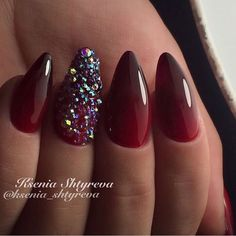 Beautiful gradient nails, Beautiful nails 2017, Bright gradient nails, Evening nails, Gradient manicure with gel polish, Gradient nails with a transition, Long nails, Luxurious nails