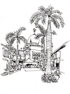 Kampong Glam Sketchwalk (10 Nov 2012) by Parka81