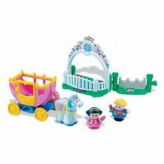 """Little People: Night at the Ball by Fisher Price. $57.77. Once upon a time, in a land filled with laughter, a prince and a princess lived happily ever after! They rode in a coach to a Night at the Ball, where they danced before the king and queen - such fun was had by all! Put the prince and princess on the dance stand and turn the thumbwheel to see them """"dance"""" together!This adorable set is the perfect addition to the Little People Lil' Kingdom Castle, sold sepa..."""
