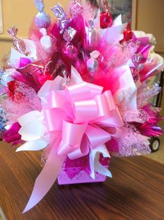 Breast Cancer awareness Candy Bouquet