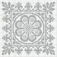 This could easily be a filet crochet. Cross Stitch Cards, Cross Stitch Borders, Cross Stitching, Cross Stitch Embroidery, Cross Stitch Patterns, Filet Crochet Charts, Crochet Borders, Stitch Witchery, Tablet Weaving
