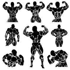 set of bodybuilding icons by Anutik45 on @creativemarket