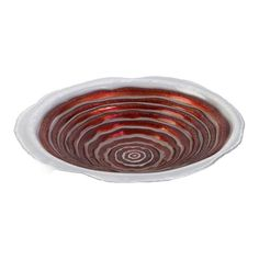 Peppermint Layers Glass Bowl in Red and White   Nebraska Furniture Mart