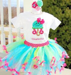 Under the Sea Girls Birthday Under the Sea Tutu Under by SewsnBows, $50.00