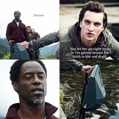 "#The100 3x02 ""Wanheda: Part Two"" - Murphy and Jaha"