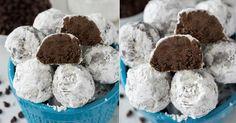 """Čokoládové """"sněhové"""" kuličky s extra porcí čokoládových kousků   Čarujeme"""