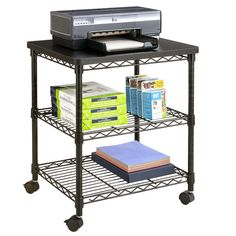Found it at Wayfair - Mobile Printer Stand