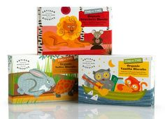 'Artisan Biscuits Two by Two' packaging by Irving & Co. Illustration by Lucia Gaggiotti. Label Design, Branding Design, Package Design, Design Packaging, Kids Packaging, Product Packaging, Pretty Packaging, Gfx Design, Type Design