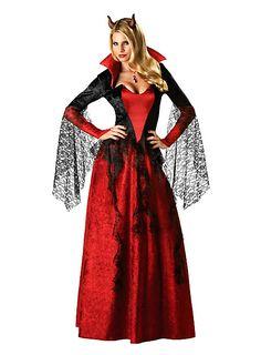 Dämonenbraut Kostüm von maskworld.com  #karneval #fasching #teufel #rot  #devil