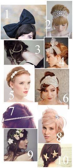 I do love all kinds of hair accessories! Not a huge fan of that giant bow though but love the star fish/nautical style ones. I also like 5 and 9