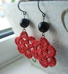 Crochet earrings- Aretes en crochet
