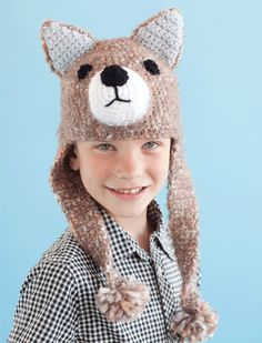 Ravelry: Wolf Hat pattern by Sharon Mann Hoover Crochet Wolf, Crochet For Boys, Crochet Baby Hats, Knit Or Crochet, Knitted Hats, Crochet Children, Wolf Craft, Fox Hat, Kids Hats