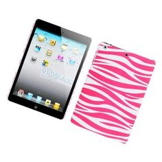 [Buy World] for Ipad Mini Rubberized Image Protector Cover Pink Zebra