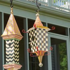 From the birds to the bees, MacKenzie-Childs' unusual garden designs add fun and play to any outdoor space. Give your local songbirds a MacKenzie-Childs-style home with a bit of exotic flair in the Pagoda Birdhouse.
