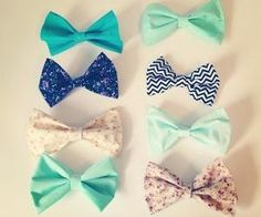 I love these bows and their colors!!