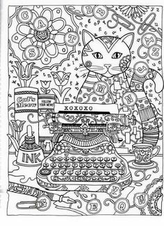 Creative Haven Cats Coloring Book For Adults Latest Trend In Anti Stress Inner Page Total 12 Sheets 24 Pages Model Number Cat