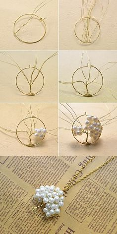 Want to learn how to make this wire and beads pendant necklace? LC.Pandahall.com will share us the tutorial.